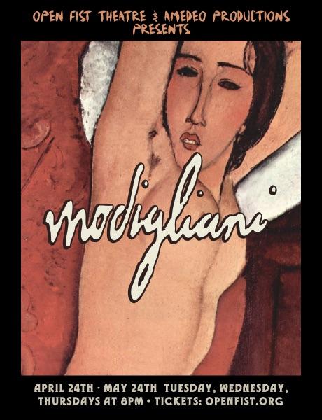 Modigliani theater poster #3.