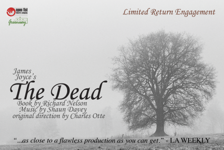 "James Joyce's ""The Dead"" theatre poster"
