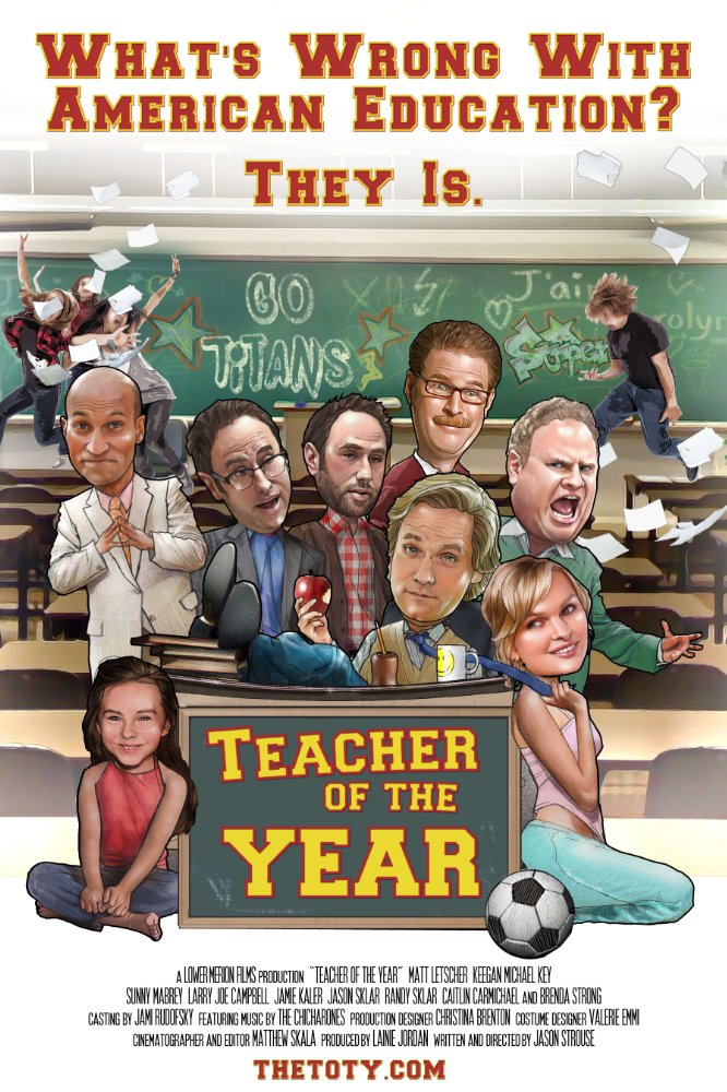Teacher of the Year poster.