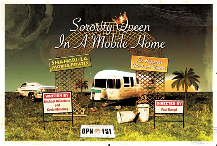 Sorority Queen in a Mobile Home theater poster.